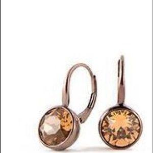 Chocolate lever back earrings